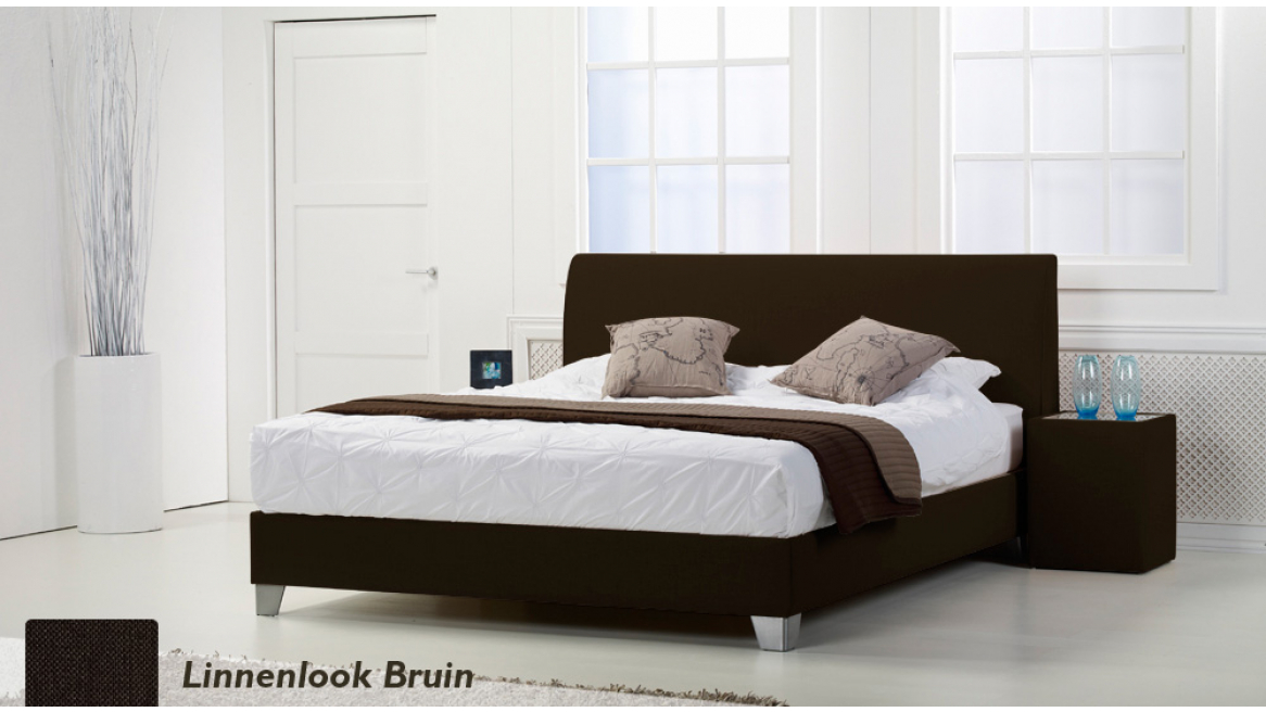 waterbed basic box pro linnenlook antraciet boxspring-look
