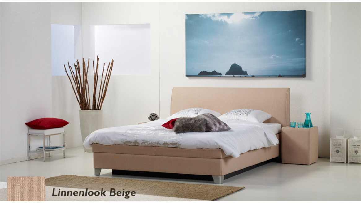 waterbed luxe box pro linnenlook beige