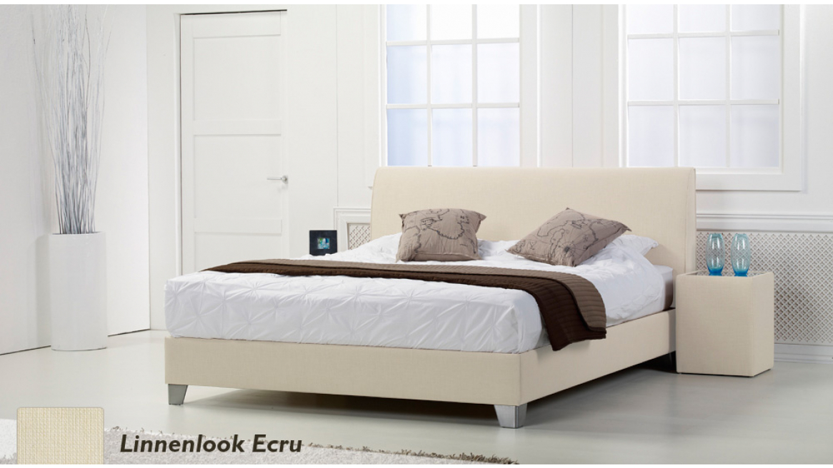 waterbed basic box pro linnenlook ecru boxspring-look