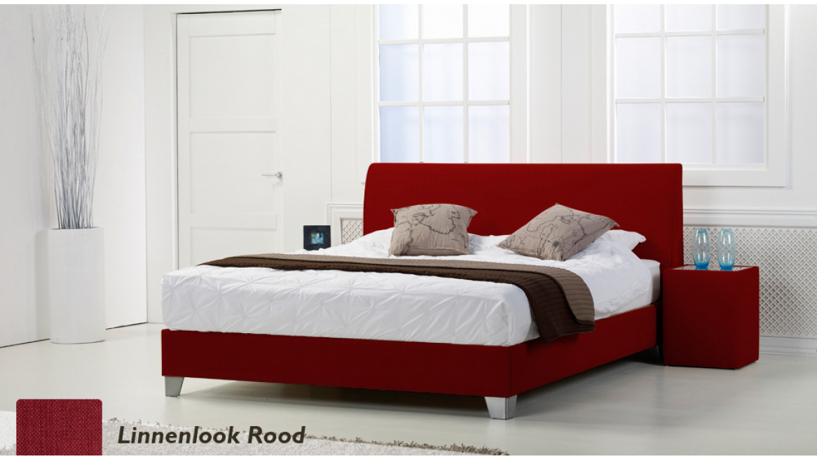 waterbed basic box pro linnenlook rood boxspring-look