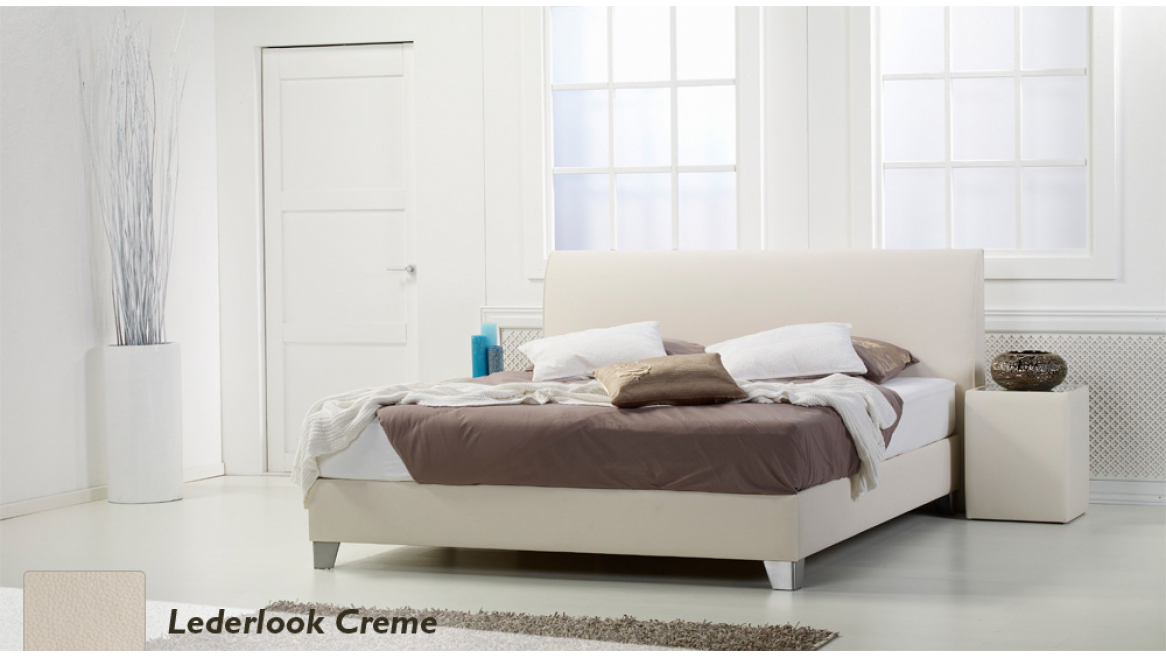 waterbed basic box pro lederlook crème boxspring-look