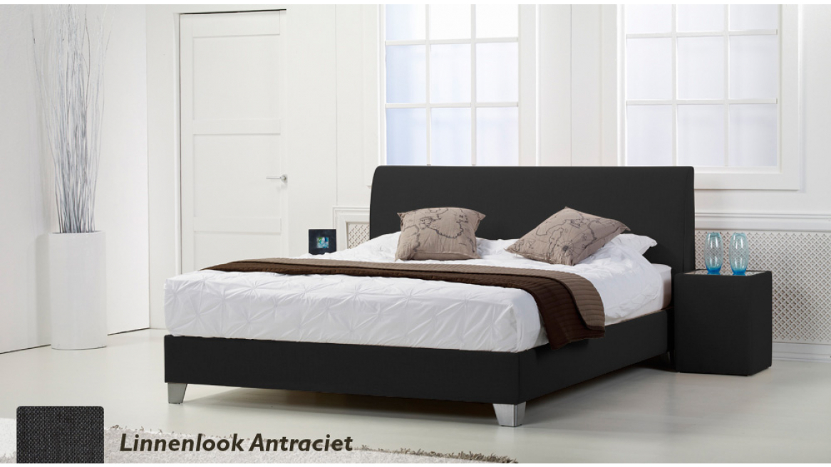 waterbed basic box pro linnenlook bruin boxspring-look