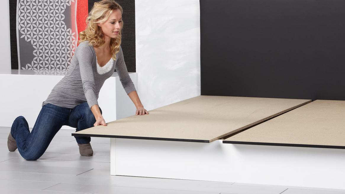 Wasserbett Basic Pro Bodenplatten auflegen