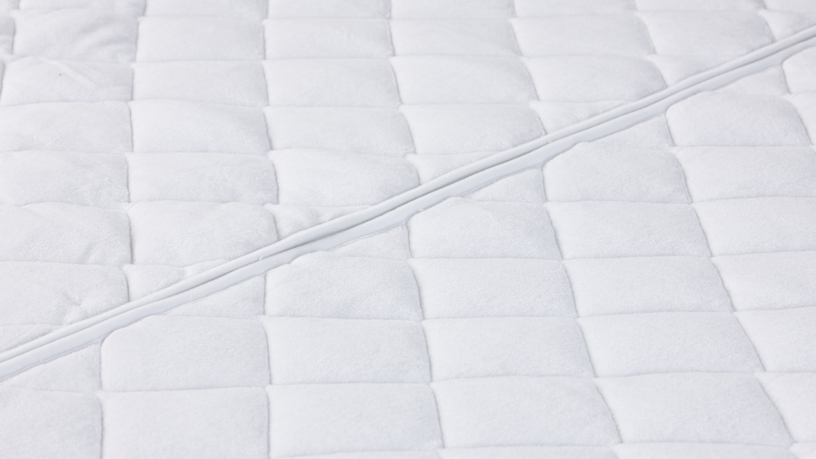 waterbed tijk wash cotton stretch middenstuk met rits
