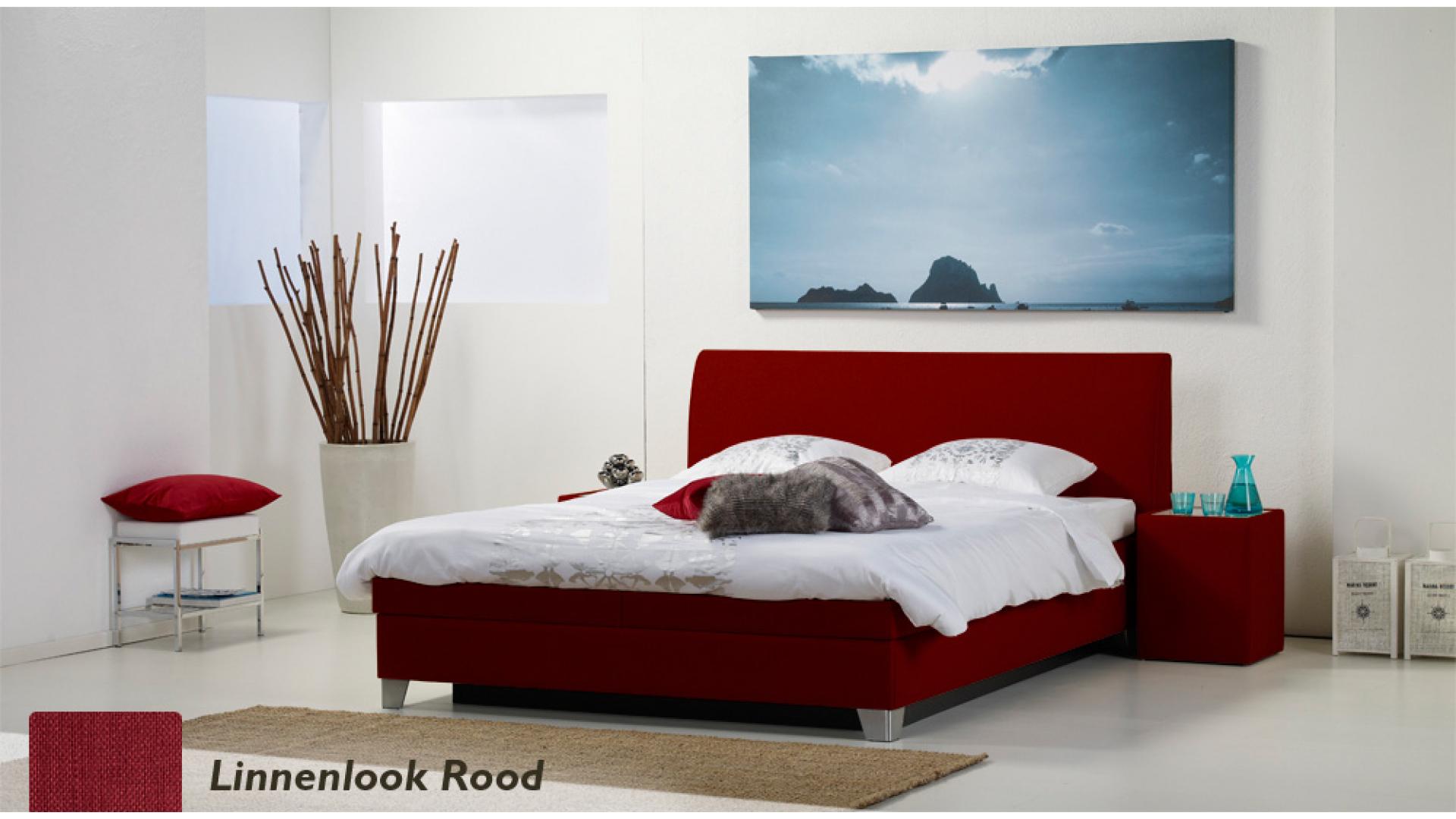 waterbed luxe box pro linnenlook rood