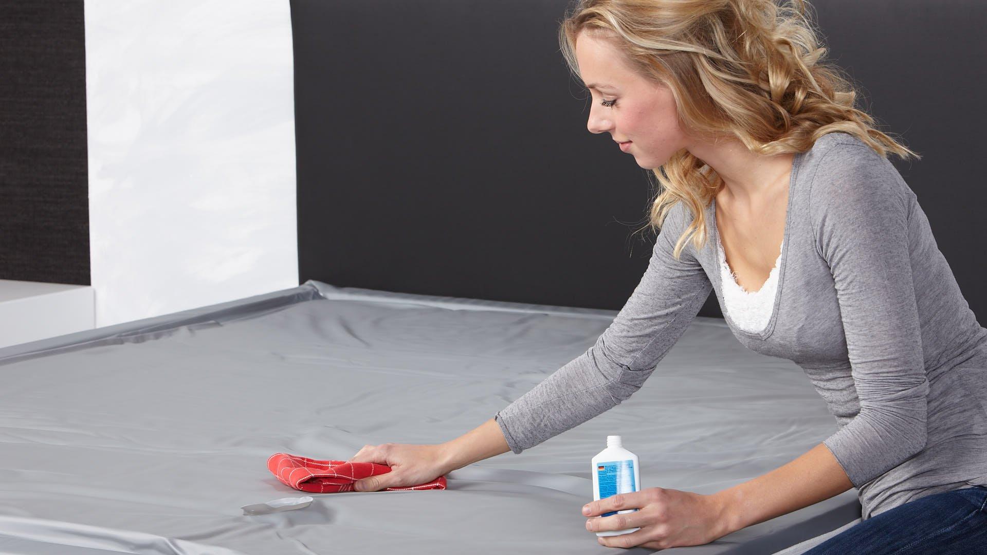 waterbed vinylreiniger gebruiken op watermatras