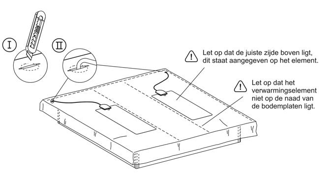 waterbed verwarmingselement plaatsen